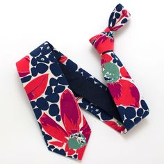 1930s Abstract Floral Necktie