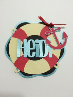 Personalized Nautical Cruise Door Decoration by PartyPixieDust