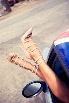 sexy nude shoes - high heel
