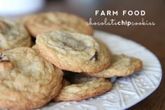 farm food | chocolate chip cookies for a rainy day #chocolatechipcookies #septemberfarm #dessert