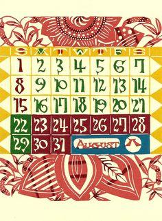 dreamersrise: Katazome calendar page by Keisuke Serizawa.