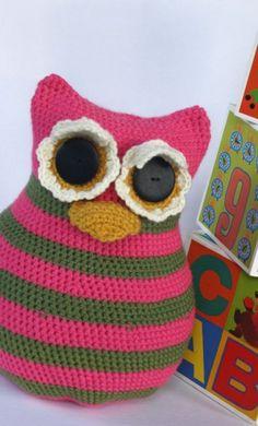 Large Crochet Owl Amigurumi Stuffed
