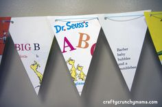 Dr. Suess bunting- really like this idea!