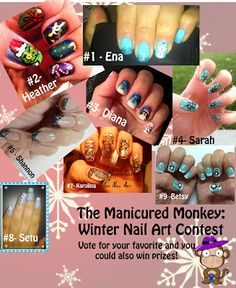 Winter Nail Art Contest!  if you want to win a prize ... vote for best winter mani ;)  My nail art its number 7 ! :) xoxo