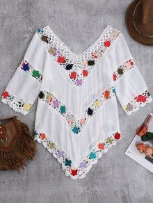 A site with wide selection of trendy fashion style women's clothing, especially swimwear in all kinds which costs at an affordable price. mode frauen Crochet Chevron Beach Cover-Up Tunic Crochet Tunic Pattern, Crochet Blouse, Crochet Lace, Crochet Patterns, Chevron Crochet, Crochet Collar, Trendy Fashion, Womens Fashion, Fashion Hair