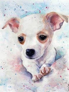 Personalizado perro retrato personalizado perro pintura Custom