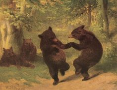 William Holbrook Beard Paintings, Art Prints, The Bear Dance by William Holbrook Beard