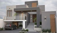 Awesome Modern House Design for Your Dream House House Front Design, Modern House Design, Contemporary Design, Contemporary Architecture, Exterior Paint Colors For House, House Colors, Exterior Colors, Modern House Plans, Facade House