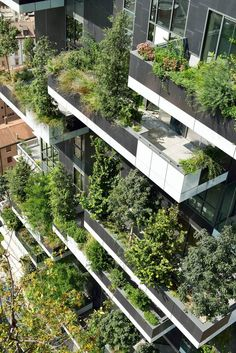 Unlike Mr. Ingenhoven, I am not convinced that this is a model of development that can be replicated easily. That's a big honking planter full of a lot of heavy earth, way out on the end of an eleven foot cantilevered balcony. It is stunning to look at, but it is very, very expensive to do.