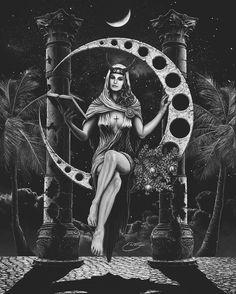 """"""" The High Priestess By Eric Tecce (Via EricTecce.com)"""
