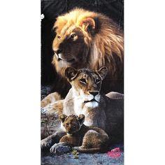 Towel - Lion Family #BigCatFamily