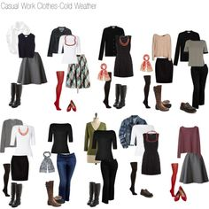 """Casual Work Wardrobe-Cold Weather"" by laughinggirl-sf on Polyvore"