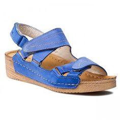 Sandały DOLCE PIETRO - 0822-024-04-1 Nubuk Niebieski