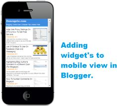 How to show a blogger widget in mobile view in blogger