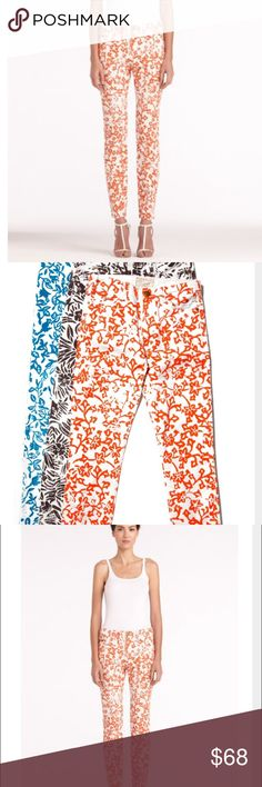 Current/Elliot Skinny Jeans in Coral Limited edition! Diane Von Furstenberg teaming with current/ Elliot  has designed these gorgeous unique jeans . Printed coral patter and sure to make you stand out in a crowd. A must for any current/ Elliot lover! Perfect condition! Make an offer🙌 Current/Elliott Jeans Skinny