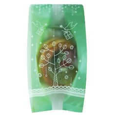 Dove and bird printed frosted cellophane bags. Green Color Cellophane Treat Bags. For home baking, soap. www.morecozy.com
