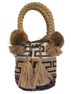 Buy Wayuu Bags Online-Colombian Bags Retailers and Wholesalers-Suscribe and Get 3 FREE Wayuu Bracelets with your first purchase! Mochila Crochet, Drawing Bag, Dark Brown Color, Light Pink Color, Tapestry Crochet, Trendy Accessories, Brown Bags, Online Bags, Handmade Bags