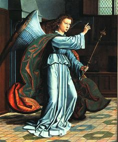 renaissance angel paintings   The Angel of the Annunciation - Gerard David - WikiPaintings.org