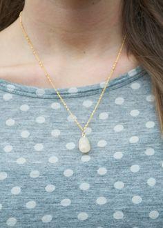 Quartz Drop Necklace by MLKANHNY on Etsy, $24.00
