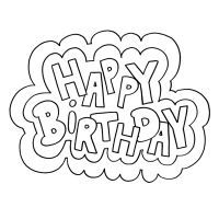 Happy Birthday Coloring Pages With Balloons For Kids Coloring Happy Birthday Coloring Pages