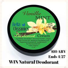All Natural Katie: Vanilla Mint Organic Deodorant Cream [Giveaway]