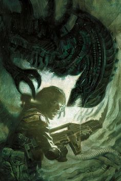 Aliens: Defiance 1 by Massimo Carnevale (for Dark Horse Comics)