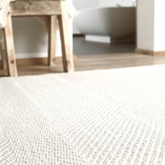 Delight Rugs 0001 01 by Down To Earth in Natural White