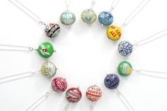 Love recycled fashion.. awesome bottlecap bracelets too...