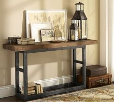 Griffin Reclaimed Wood Console Table #potterybarn......the bar would be going near this