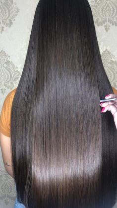 Beautiful Long Hair, Gorgeous Hair, Glossy Hair, Shiny Hair, Long Brunette Hair, Long Indian Hair, Long Silky Hair, Long Hair Video, Keratin Hair
