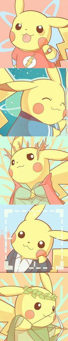 Pikachu as superheros