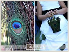 Peacock Feather Wedding Theme  not sure about this... gold basket with feathers on it would be nicer...