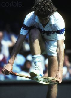 1981 - John McEnroe while trying to break his racket