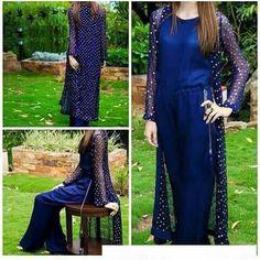 😍 Pakistani Party Wear Dresses, Designer Party Wear Dresses, Pakistani Dress Design, Pakistani Outfits, Indian Dresses, Frock Fashion, Girl Fashion, Fashion Dresses, Afghan Dresses