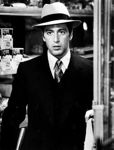 Al Pacino in a fantastic suit. He might be old now, but back then he was PRETTY HANDSOME!