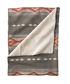 Our popular Timber Mountain Throw has a warm wool-blend face backed with polyester pile. Great for TV room, guest room, or car. #woolrich1830