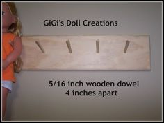 GiGi's Doll and Craft Creations: American Girl Doll Wall Hanger