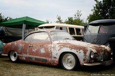 Rusty Karmann Ghia. Sweet Wheels.
