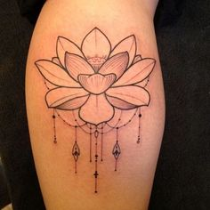 Lotus Tattoo. I Like The Dainty Designs Underneath The Flower