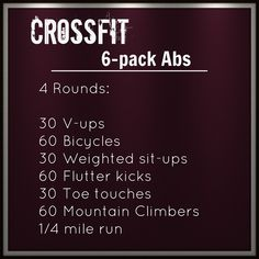 Habits Of Fit Girls - How To Stay Fit And Healthy Crossfit Abs (don't forget to eat right, or all that hard work will be cancelled out!)Crossfit Abs (don't forget to eat right, or all that hard work will be cancelled out! Fitness Workouts, Fitness Motivation, At Home Workouts, Fitness Tips, Health Fitness, Wod Workout, Daily Motivation, Workout Exercises, Hard Ab Workouts