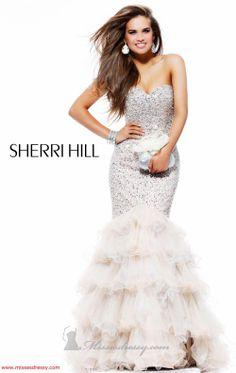 Sherri Hill 2801 Dress - MissesDressy.com Comes in Nude and Silver, Aqua and Silver, White and Silver and Black and Silver.