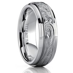 Men's Women's Hand Engraved Titanium Wedding Ring Unisex Band, Comfort Fit 7mm Size 7. Crafted of Genuine Solid Titanium. Hand Engraved Wedding Band. 7MM Lightweight Comfort Fit Band with Beveled Edges. Comes with a FREE Ring Box!!. 30-Day Money Back Guarantee.