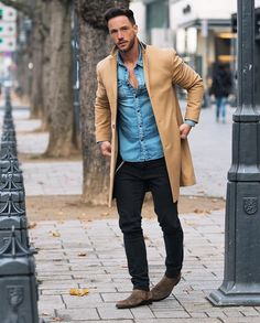 perfect outfit , Street Style & more details Mode Outfits, Casual Outfits, Fashion Outfits, Men Looks, Casual Chic, Men Casual, Chelsea Boots Outfit, Man's Overcoat, Trend Fashion