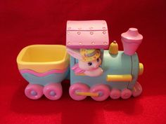 Hallmark 1993 Crayola Bunny Easter Eggspress Train Figurine by SashaAzreal on Etsy