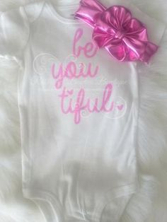 Glitz & Glam Babe - Be-you-tiful Pink Infant Glitter Onsie