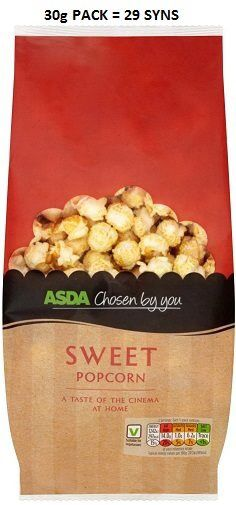 Asda Chosen By You Sweet Popcorn Syns Slimming World Syns, Sweet Popcorn, Asda, Oatmeal, Breakfast, Food, Candy Popcorn, The Oatmeal, Morning Coffee