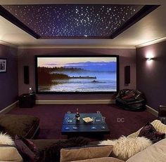 Cool theater room