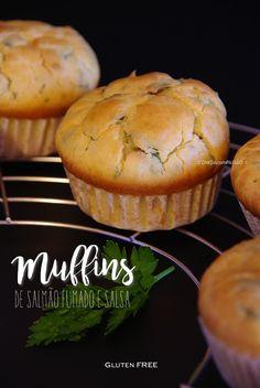 Muffins de Salmão Fumado e Salsa | Gluten Free