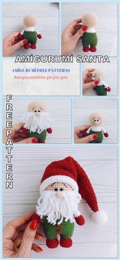 crochet - Amigurumi Santa Claus Free Crochet Pattern - Amigurumi Free Patterns - Apocalypse Now And Then Minion Pattern, Crochet Pattern Free, Crochet Amigurumi Free Patterns, Crochet Santa, Crochet Christmas, Free Christmas Crochet Patterns, Crochet Angels, Crochet Ornaments, Crochet Snowflakes