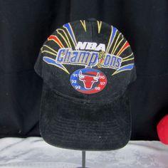 BLACK HAT CAP-1998 CHICAGO BULLS NBA CHAMPIONS  91  92  93  96  97  98 ADULT   Starter  ChicagoBulls 033bc252c